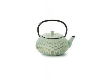 Fuzhou - litinová čajová konvice s nerezovým sítkem 0,8 l, zelená, zlatá
