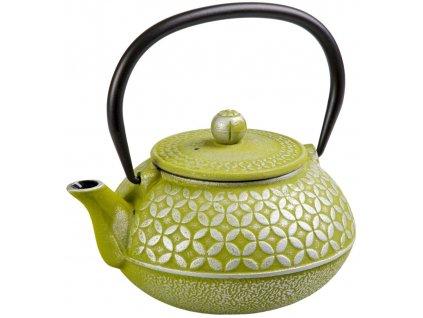 Hao - litinová čajová konvice s nerezovým sítkem 0,7 l, zelená