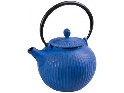 Anyang - litinová čajová konvice se sítkem 0,6 l, modrá