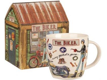 The Biker, motorkář - porcelánový hrnek 0,4 l v dárkové krabičce