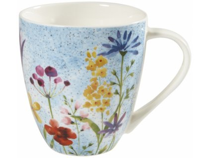 Bouquet  - porcelánový hrnek 0,5 l, Aqurelle, modrý, květiny