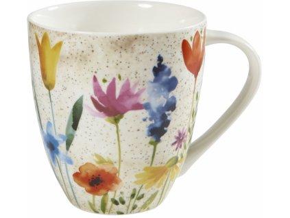 Bloom  - porcelánový hrnek 0,5 l, Aqurelle, květiny
