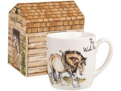 The Work horse  - Fine China, porcelánový hrnek 0,3 l v dárkové krabičce, pracovní kůň