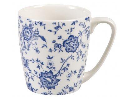 Jacobean - Fine Bone China, porcelánový hrnek 0, l, modrý, bílý, květiny