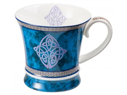 Celtic - Fine Bone China porcelánový hrnek 0,3 l, modrý, keltský uzel