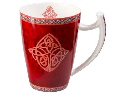 Celtic - Fine Bone China porcelánový hrnek 0,5 l, červený, keltský uzel