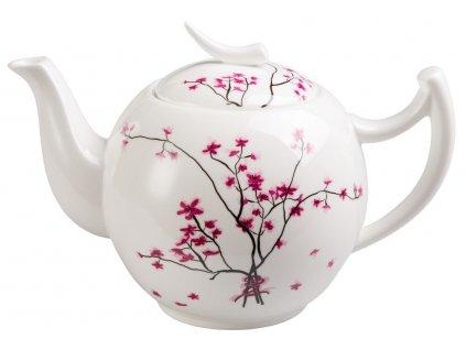 Cherry Blossom - Fine Bone China porcelánová čajová konvice 2 l, třešeň