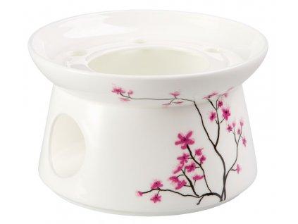 Cherry Blossom - Fine Bone China porcelánový ohřívák k čajové konvici, třešeň