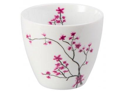 Cherry Blossom - Fine Bone China porcelánový hrnek bez ucha, 0,3 l, třešeň
