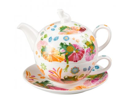 Fritz - Tea for one, Fine Bone China, čajová porcelánová souprava 0,25l /0,5 l, žába