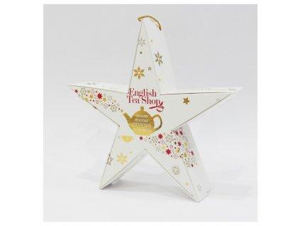 Vánoční hvězda - porcovaný čaj v pyramidách 6 x 2 g, zlatá konvička