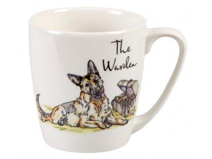 The Warden - Fine China, porcelánový hrnek 0,3 l, pes správce