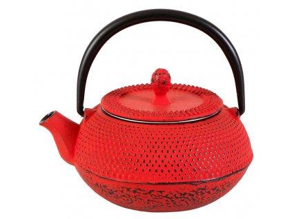 Shihezi - litinová čajová konvice se sítkem 0,3 l, červená