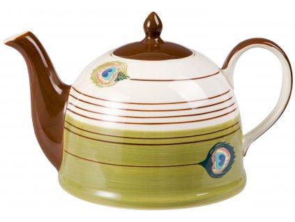 Pfauenauge - keramická čajová konvička 1,9 l, paví oka