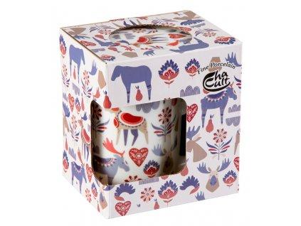 Jeppe - porcelánový hrnek se sítkem a pokličkou 0,25 l, vánoční