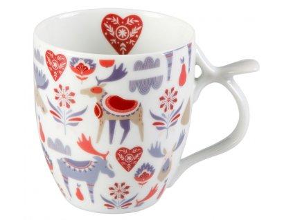 Jeppe - porcelánový hrnek 0,35 l, vánoční