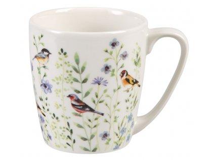 Bird Watch blue - porcelánový hrnek 0,3 l, Aqurelle, ptáček, louka