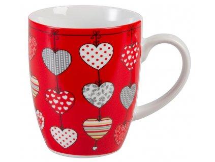 Zoey - porcelánový hrnek 0,25 l, srdce, červený