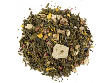Aloe Vera s granátovým jablkem - aromatizovaný sypaný zelený čaj 80 g