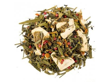 Karibský polibek - aromatizovaný sypaný zelený a černý čaj 80 g
