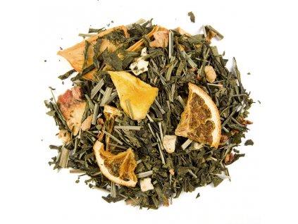 Papája s pomerančem - aromatizovaný sypaný zelený čaj 80 g