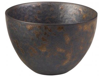 Arienne - porcelánový hrnek bez ucha, 0,18 l, bronzový