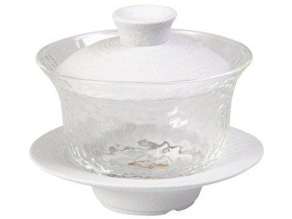 Ono - porcelánový - skleněný Gaiwan (Zhong), 0,15 l bílý