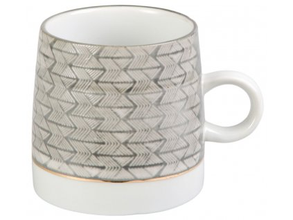 Adia - porcelánový hrnek 0,3 l, šedý