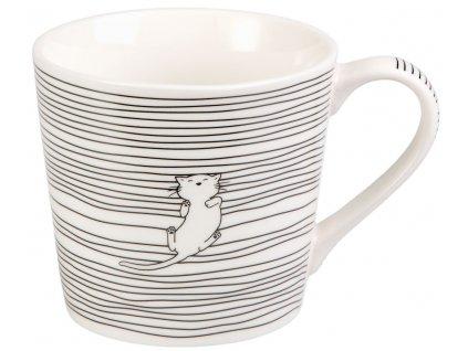 Malika - porcelánový hrnek 0,35 l, bílá kočka