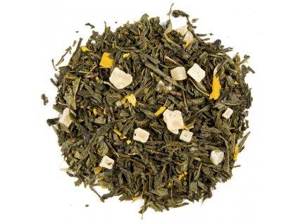 Tropický ananas - aromatizovaný sypaný zelený čaj 80 g