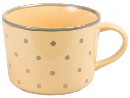 Katie - keramický hrnek 0,3 l, puntík, žlutý