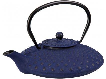 Taka - litinová čajová konvice se sítkem 0,8 l, modrá