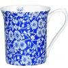 Blue Story - Fine Bone China, porcelánový hrnek 0,22 l, modrý, bílý, květiny, 1