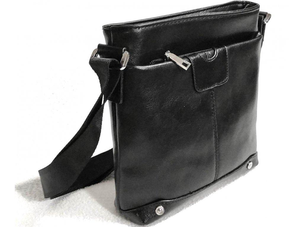 Clementi pánská koženková taštička přes rameno RR 9601 černá