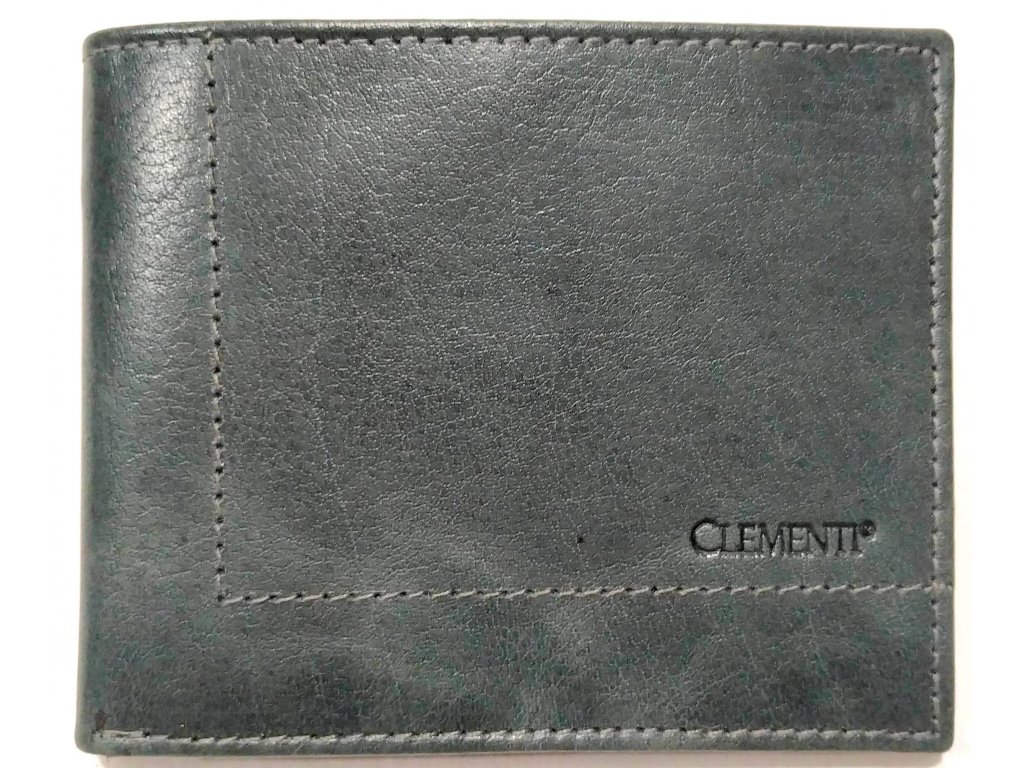 Pánská kožená peněženka šedá CLEMENTI Junior