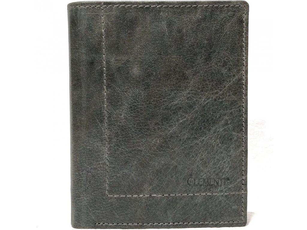 Pánská peněženka na výšku kožená Clementi GRV šedá