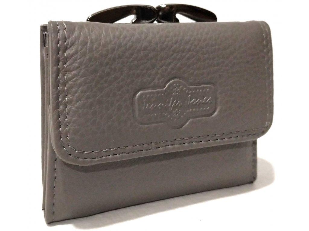 Miniaturní kožená dámská peněženka J.Jones šedá