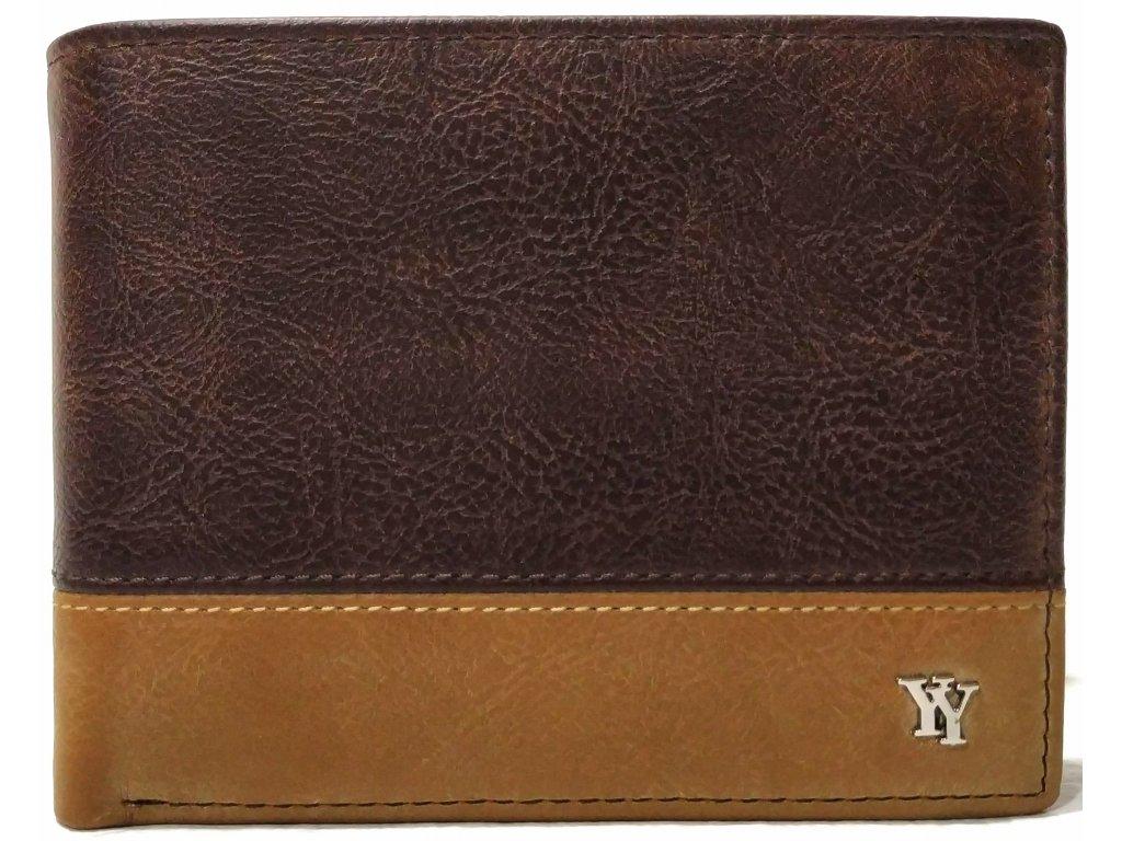 Klasická pánská peněženka You Young Coveri hnědá