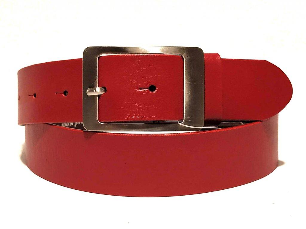 Clementi dámský kožený opasek pásek Carla červený