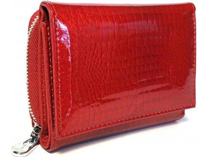 Clementi kompaktní kožená dámská peněženka Hancock červená
