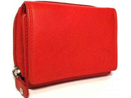 Clementi kompaktní kožená dámská peněženka Ramona červená