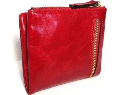 Clementi kompaktní dámská kožená peněženka Zeta červená