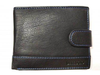Klasická pánská peněženka Bellugio naširoko se zapínáním černá
