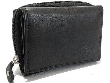 Clementi kompaktní kožená dámská peněženka Ramona černá