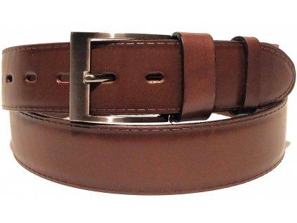 Clementi pánský pásek kožený opasek do jeansů riflí Bruno hnědý