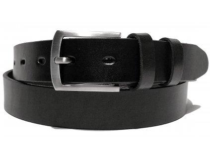 Clementi pánský pásek kožený opasek k obleku Franco černý