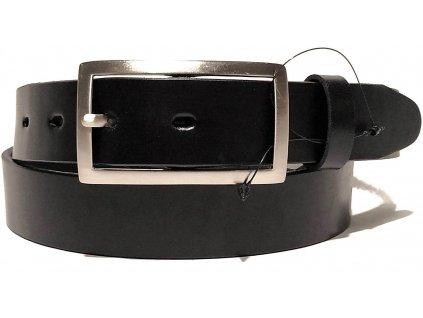 Clementi dámský kožený opasek pásek Monica černý