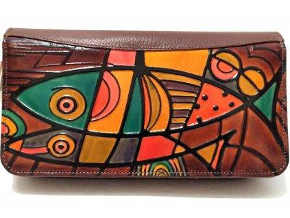 Clementi dámská ručně malovaná peněženka Toledo hnědá