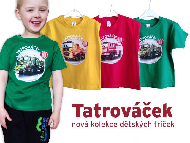Nová kolekce dětských triček TATROVÁČEK