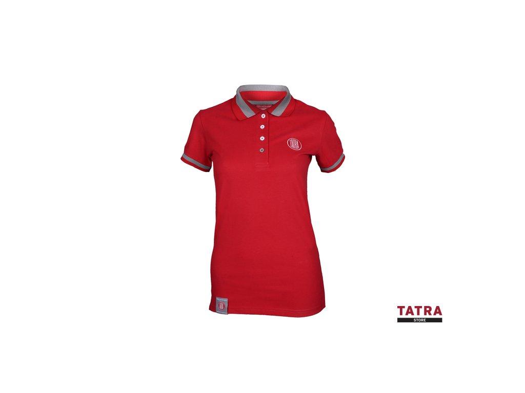 big T078 Tatra polo triko cervene damske 01
